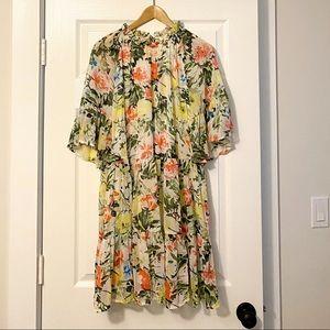 NWT H&M Floral Ruffle Mini Dress